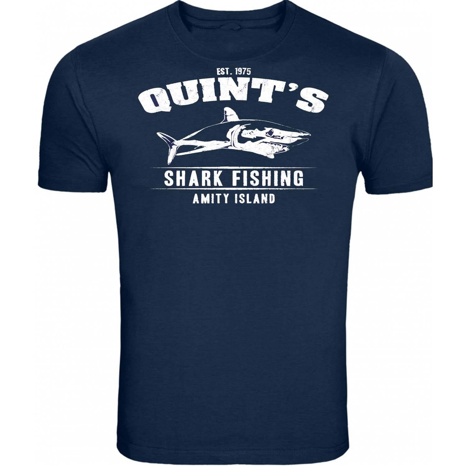 Jaws Movie Quint HE/'S GOT LIFELESS EYES LIKE A DOLL/'S EYES T-Shirt All Sizes