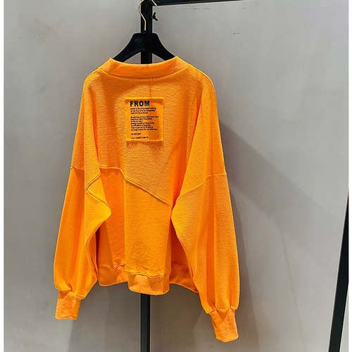 2021 New Spring Autumn Loose Korean Style Loose Women Top Cotton Ins Hoodie Round Neck Simple Pullover Sweatshirt 10