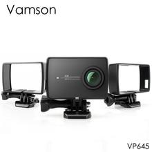 Vamson ل شياويى 2 4K الإسكان الجانب جبل حماية إطار حالة ل Xiaomi يي 4 K/لايت العمل كاميرا مع قاعدة تثبيت والمسمار VP645