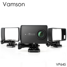 Vamson สำหรับ Xiaoyi 2 4K ด้านข้างป้องกันกรณีกรอบสำหรับ Xiaomi YI 4 K/Lite Action กล้อง Mount ฐานสกรู VP645