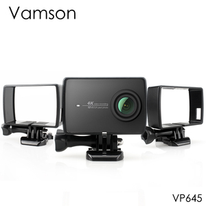Image 1 - Vamson for Xiaoyi 2 4K Housing Side Mount Protect Frame Case for Xiaomi YI 4K/Lite Action Camera With Mount Base and Screw VP645