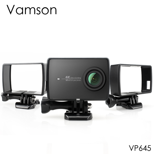 Vamson for Xiaoyi 2 4K Housing Side Mount Protect Frame Case for Xiaomi YI 4K/Lite Action Camera With Mount Base and Screw VP645