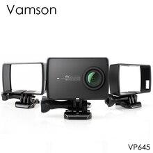 Vamson pour Xiaoyi 2 4K boîtier de protection latérale boîtier de protection pour Xiaomi YI 4 K/Lite caméra daction avec Base de montage et vis VP645