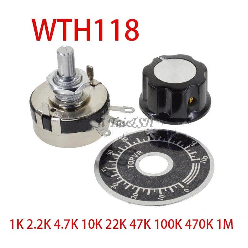 1 Set WTH118 DIY Kit Parts 2W 1A Potentiometer 1K 2.2K 4.7K 10K 22K 47K 100K 470K 1M