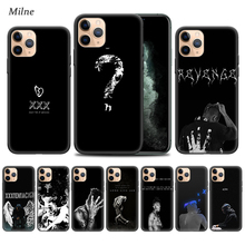 Rap Singer XXXTentacion Cases for Apple iphone 11 Pro XS Max XR X 7 8 6 6S Plus 5 5S SE 5C Black Soft Tampa Phone Cover Coque xxxtentacion phone cases for iphone 11 pro max x 6 7 8 plus 5 5s 6s se soft silicone xxx black case cover for iphone xs max xr