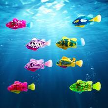4 шт флэш-плавательный электронный рыбы детские игрушки для ванной плавать индукции робот игрушка рыба детские игрушки для ванной бак рыбал...