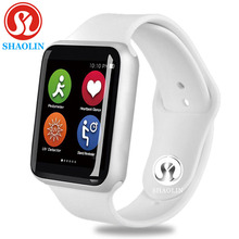 Bluetooth smart watch men smartwatch case for  iphone samsung xiaomi android Series4 apple 4 (Red Button)