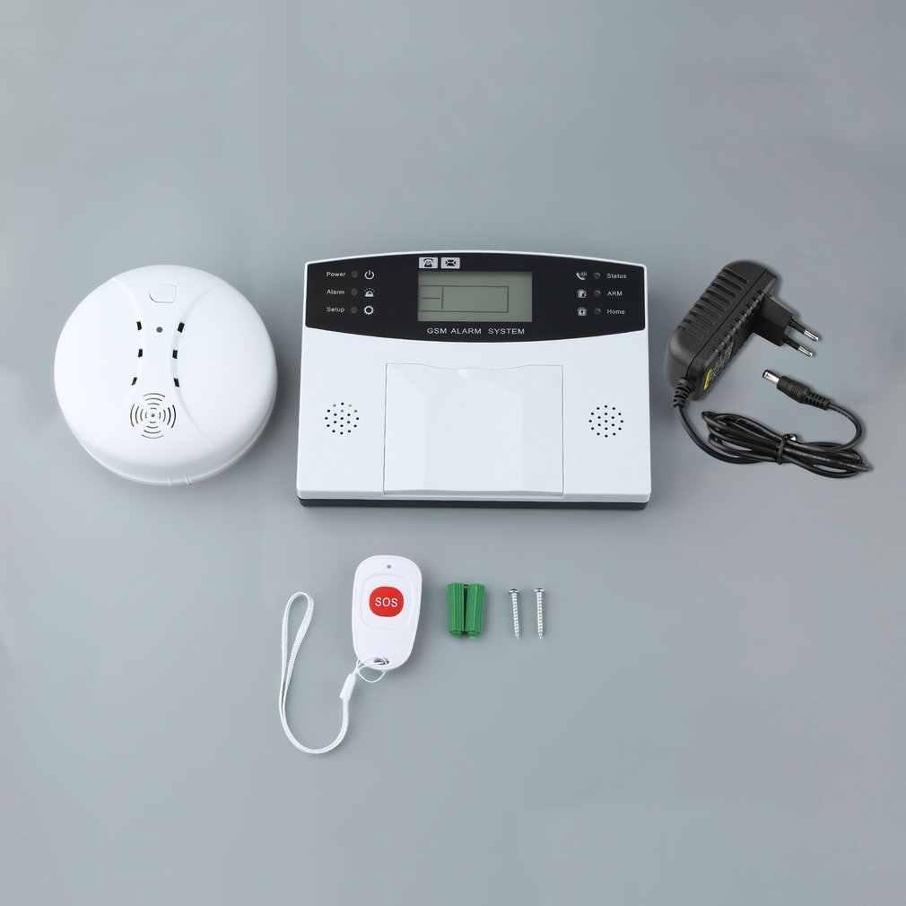 GSM-LCD ไร้สาย 433 Smart Burglar Security ALARM ระบบตรวจจับเซนเซอร์รีโมทคอนโทรล Auto SMS ไซเรน