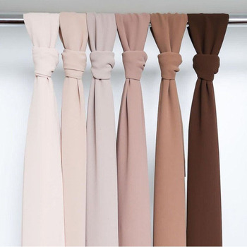 good stitching stitch plain high quality premium heavy Chiffon hijab scarf Malaysian Women s scarves