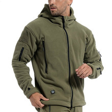 US Military Fleece Tactical Jacket Men Winter Thermal Outdoor Warm Hooded Jacket Coat Men Softshell Hike Outerwear Army Jacket недорого