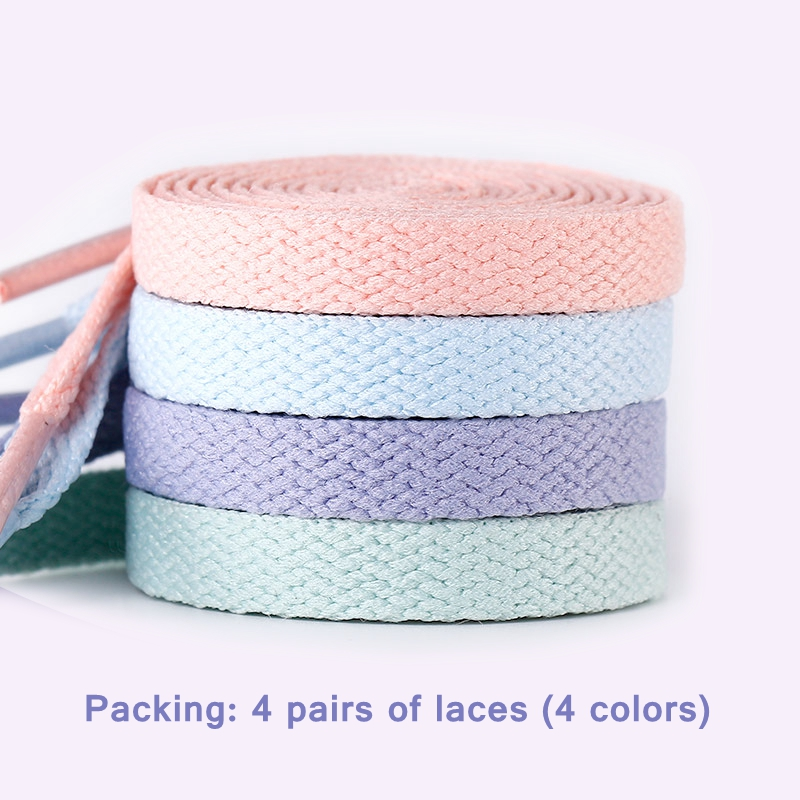 1Pair 4 Colors Flats Shoelace For AJ/AF Shoelaces Off Sneaker White Shoes Lace For Women And Men Shoelace
