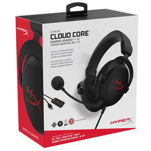 Image 5 - New Kingston HyperX Cloud Core + 7.1 Surroundพร้อมไมโครโฟนProfessional Esportหูฟังหูฟังสีดำ
