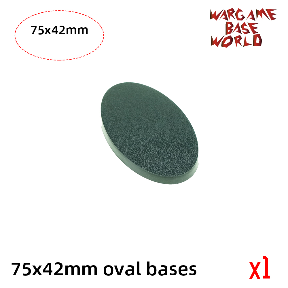 Wargame Base World -75 X 42mm Oval Bases For Warhammer
