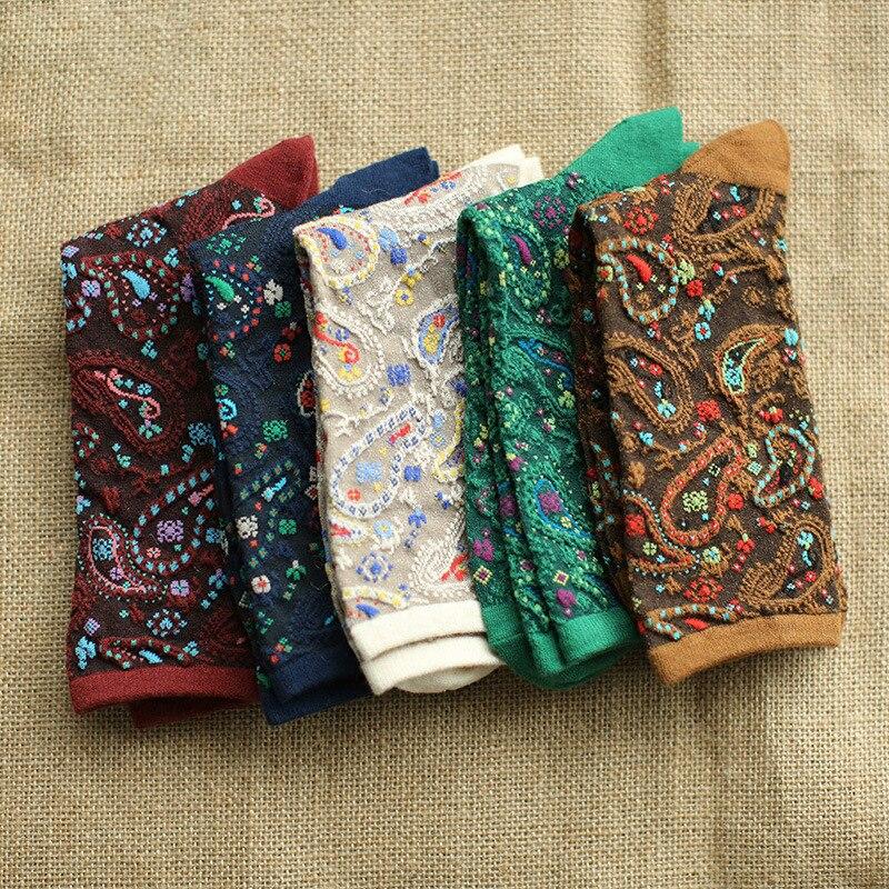 Fashion Japanese Vintage Ethnic Style Art Socks Peacock Feather Pattern Fancy Socks Cute High Quality Jacquard Woman Socks