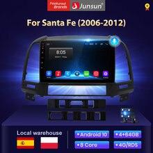 Junsun-autorradio 2 din V1 con Android 10,0 y 4G + 64G 9 pulgadas multimeradio coche con auto pantalla para Hyundai, Santa Fe, 2007, 2006-2012, altavoces con bluetooth/android auto /carplay/ NO cd /navegador gps coche