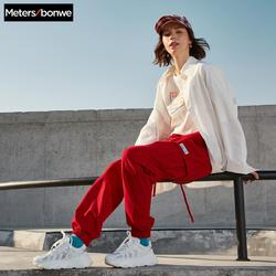 Metersbonwe 여성 솔리드 컬러 블라우스 2020 새로운 패션 느슨한 캐주얼 스트리트 셔츠 오버 사이즈 탑스