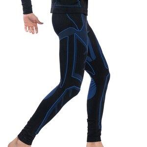Image 4 - Yooy 남자 열 속옷 세트 남자 긴 존스 가을 겨울 셔츠 + 바지 남자 탑스 압축 빠른 건조 thermo 의류