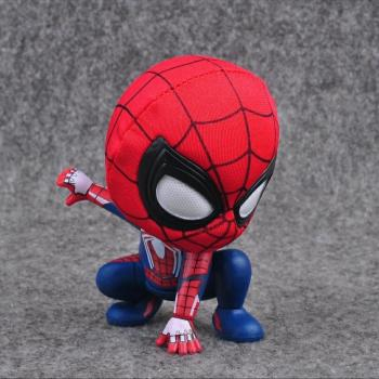 Marvel Spider-man Handheld Toy Magnets Shake-head Action Figure Q Version Of The Hero's Return Avengers Furnishing Articles [new] the walking dead zombie head action figure model resin crystal car ornament home desk decoration furnishing articles gift