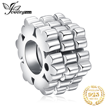 JewelryPalace Flower 925 Sterling Silver Bead Charm Fit Bracelets Gifts For Women 2018 New Fashion DIY