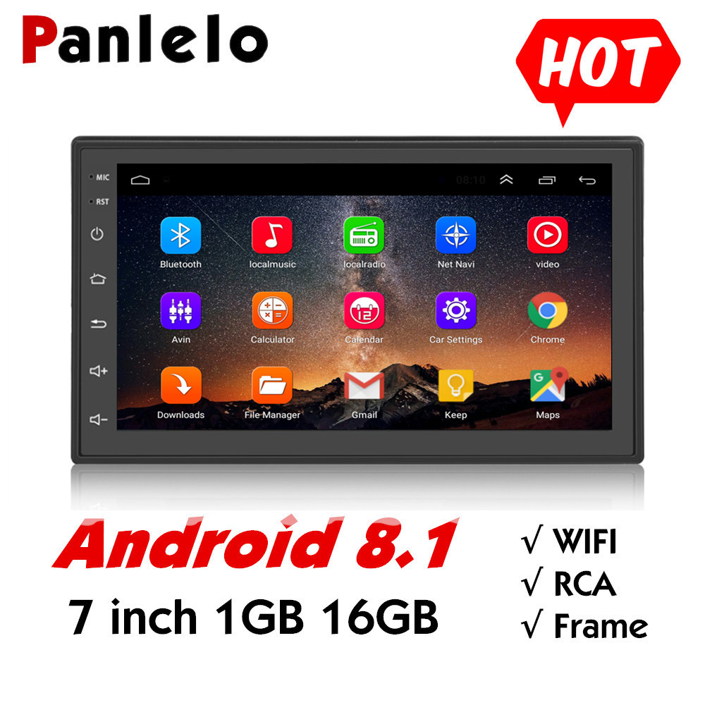 Android 8,1 Quad Core 2 Din Multimedia 7 zoll 2 din Head Unit Auto <font><b>GPS</b></font> Navigation Audio Radio Universal Touch bildschirm Auto Stereo image