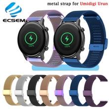 حزام معصم معدني لـ Umidigi Urun ، ملحقات ساعة ذكية ، سوار بديل من الفولاذ المقاوم للصدأ لـ Umidigi Uwatch 3S ، حزام حلقي