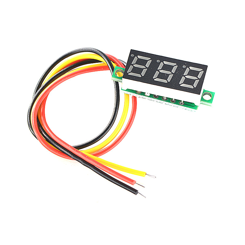 0.36 Inch LED Display 7 Segment 3 Digital Mini Display Module Voltmeter Panel Voltage Meter DC 0V-32V 0.36