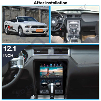 64G Android9 Tesla style Car WiFi GPS Navi multimedia For Ford Mustang 2010-2014 auto stereo radio tape recorder No DVD headunit