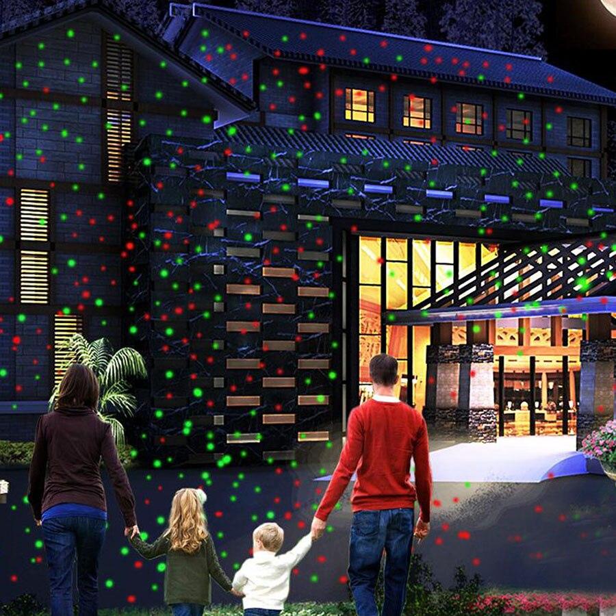 Thrisdar Green Red Star Laser Stage Light Outdoor Garden House Christmas Tree Laser Projector Light Home Party Shower Spotlight
