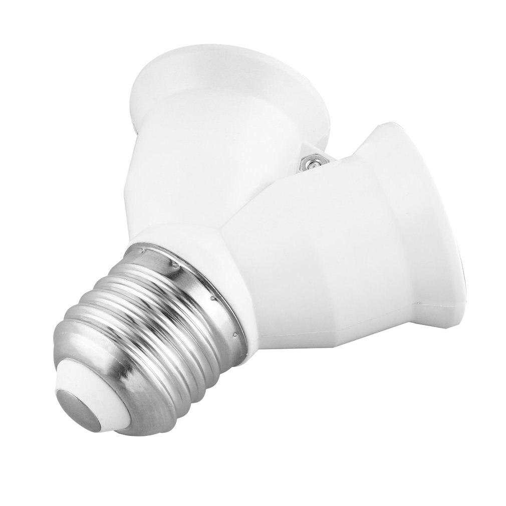 Brand Quality E27 To 2xE27 1 To 2 Y Shape LED Halogen CFL Bulb Base Light Lamp Splitter Split Adapter Converter Socket Extend