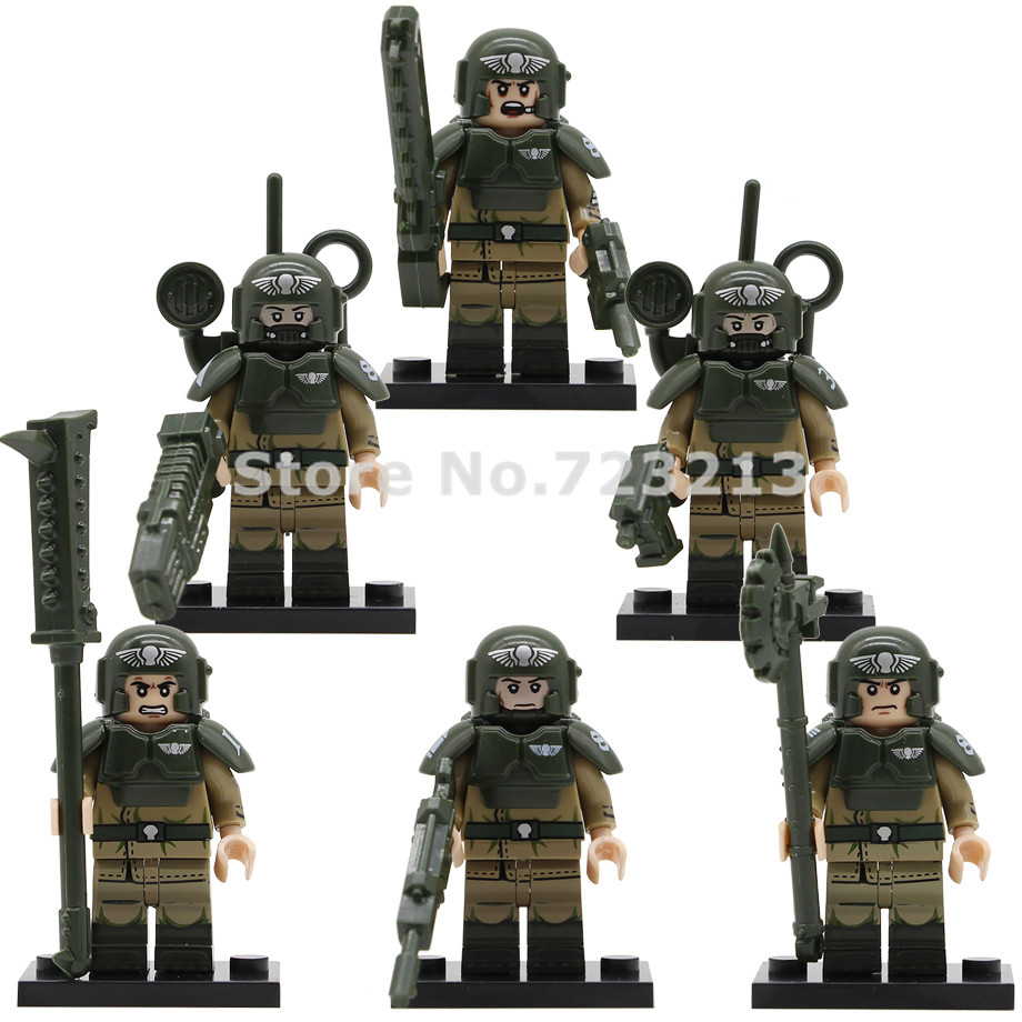6pcs/lot Star Wars Figure Set Starwars Imperial Buckethead Trooper Commander Building Blocks Bricks Toys KT1037 Legoing
