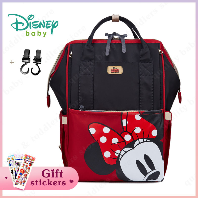 Disney Mom's Diaper Bag Fashion Stroller Baby Bag Mummy Maternity Nappy Bag Baby Care Nursing Backpack Mickey Cartoon Wet Bag