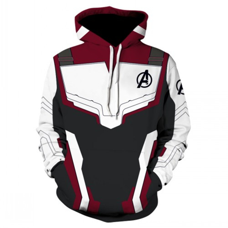 2019 The Avengers Endgame Quantum Realm Cosplay Costume Hoodies Men Hooded Avengers Zipper End Game Sweatshirt Jacket