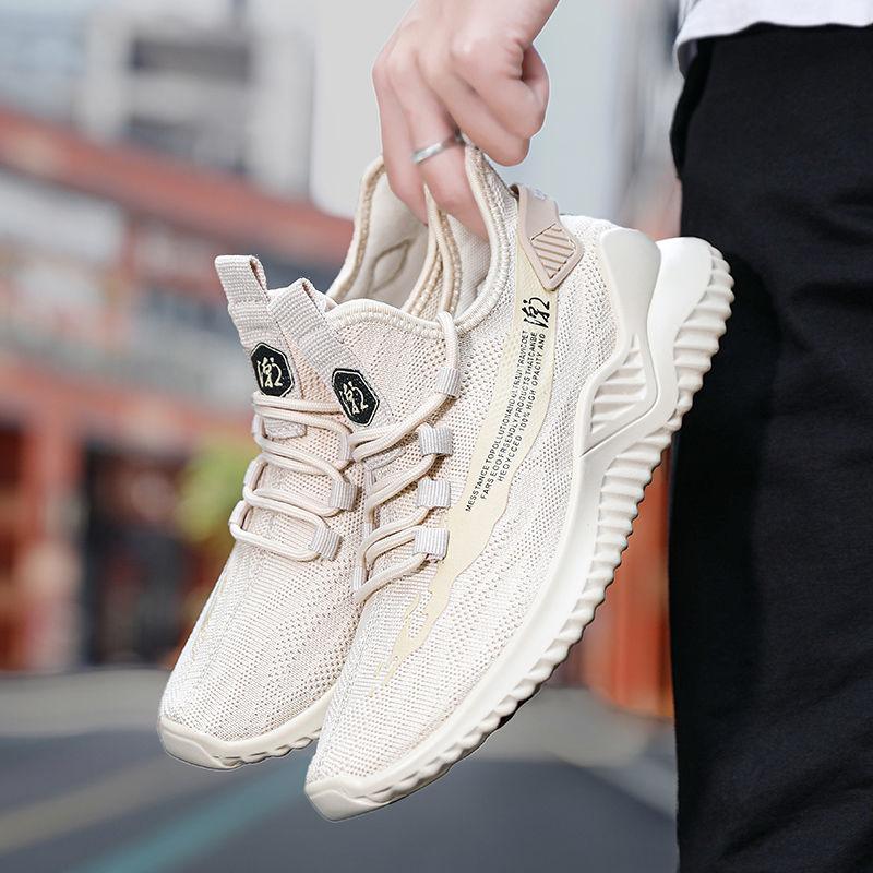 2020 New Sneakers Men Shoes Casual Lace up Mesh Men Shoes Breathable Fashion Flat Men Shoes Comfortable Large Size Hot Sale