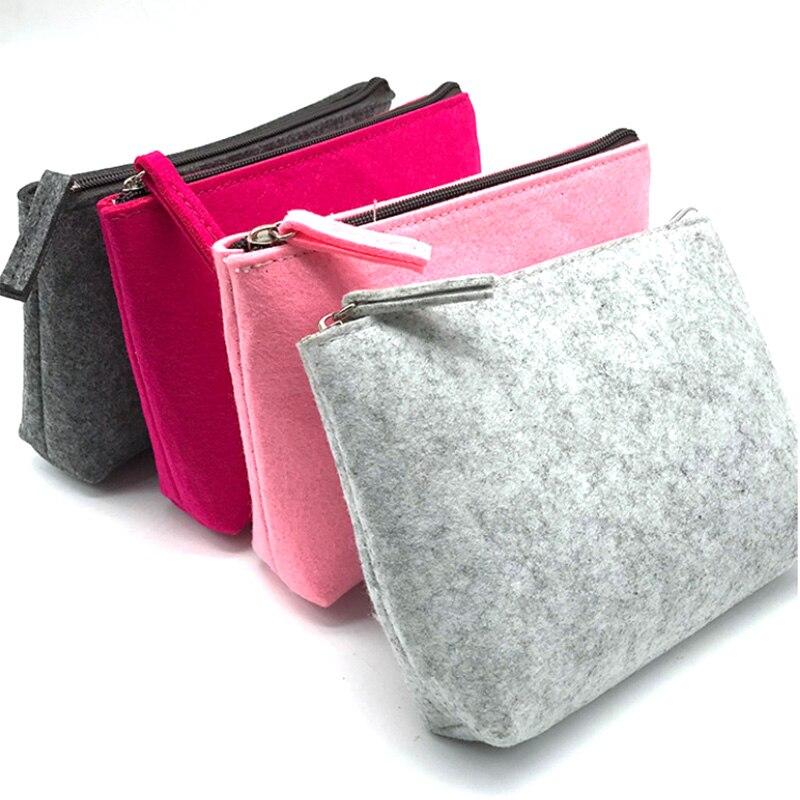 Sacs de rangement de voyage en feutre Portable de couleur unie emballage Gadget sacs de câble USB numérique avec fermetures à glissière pour organisateur de stockage de voyage à domicile