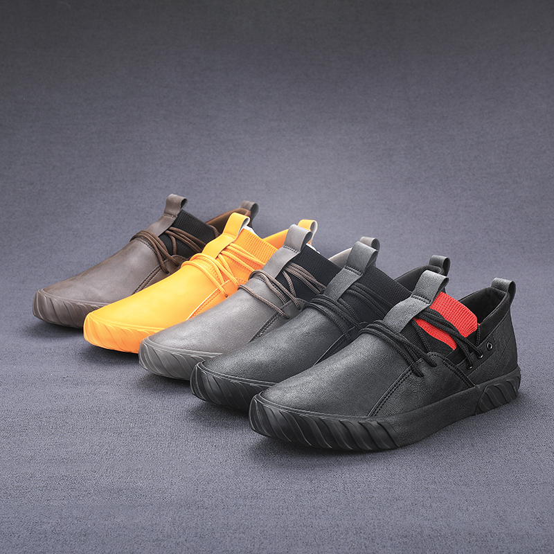 Outdoor Comfortable fashion casual male shoes men high top sneakers for men adult Men Loafers Moccasins