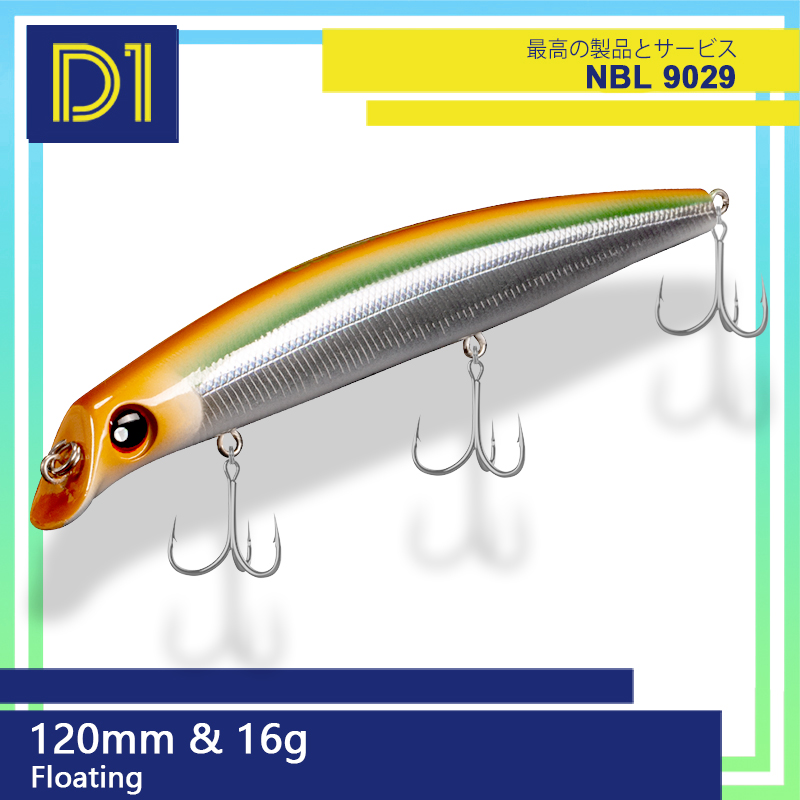 Noeby sasuke minnow isca de pesca 120mm/150mm flutuante 0-1.2m wobblers difícil de água salgada isca pesca para o robalo nbl9029