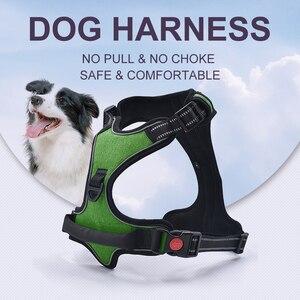 Image 2 - ペットの調節可能な反射ベスト犬ハーネスなしプルウォーキング通気性犬のベストハーネス小中大犬ストラップ