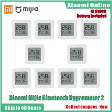2020New 1-10 sztuk Xiaomi Mijia Bluetooth termometr 2 bezprzewodowy inteligentny elektryczny cyfrowy termometr higrometr pracy z Mijia APP tanie tanio NONE CN (pochodzenie) XIAOMI Mijia Bluetooth Digital Thermometer 2 Gotowa do działania WEJŚCIE 2 KANAŁY