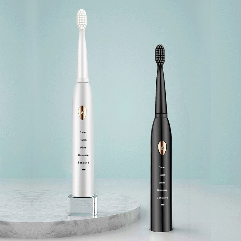 Electric Toothbrush IPX7 Waterproof Automatic Sonic Couple Suit ToothBrush USB Recharge 16 Brush Heads Electric Toothbrush
