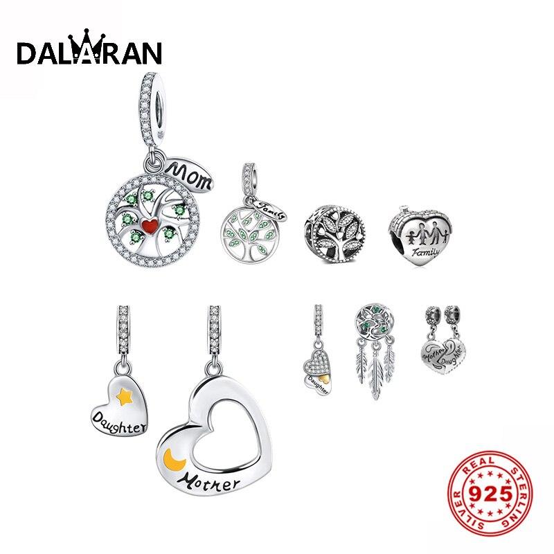 DALARAN 925 Sterling Silver Life Tree European Beads Charm Pendant Fit Original Pandora DIY Bracelet For Women  Fashion  Jewelry