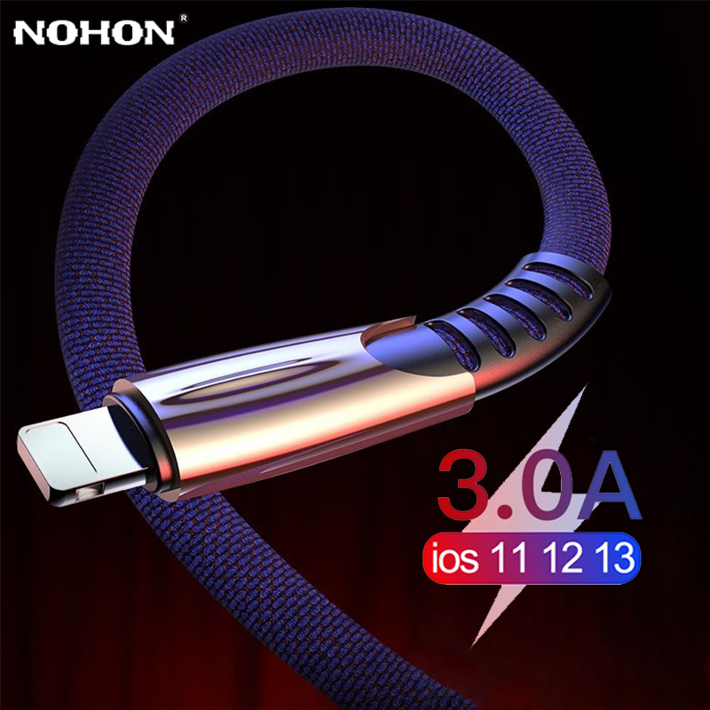 USB Cable For iPhone 11 Pro Xs Max XR X 8 7 6 6s Plus 5s iPad Fast Charging Charger Data Wire Cord origin Phone Cable long 2M 3M(China)