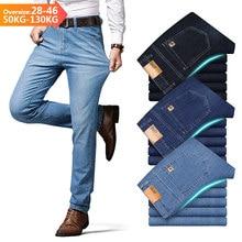 Jeans Katoen Merk Business Casual Mode Stretch Straight Werk Klassieke Stijl Broek Broek Mannelijke Big Size 28-40 42 44 46