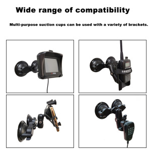Image 5 - JINSERTA Car Window Double Twist Lock Suction Cup Base with Aluminum Diamond Base w/ 1 Rubber Ball for Gopro Camera Ram Mounts