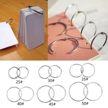 10Pcs/set Metal Binder Ring Loose Leaf Book Hoop Multifunctional Keychain Circle DIY Album Scrapbook Craft - discount item  22% OFF Office Binding Supplies