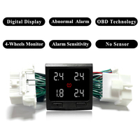 디지털 실시간 타이어 압력 모니터링 시스템 스위치 OBD TPMS 임베디드 모니터 TPMS 도요타 캠리 용 센서 없음 2018 2019|타이어 기압 모니터시스템|자동차 및 오토바이 -