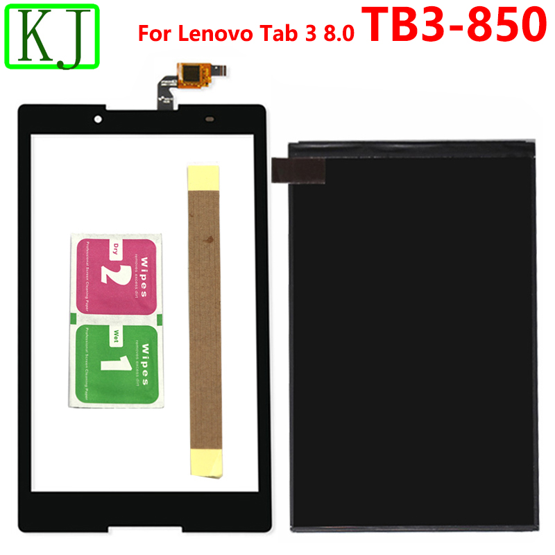 For Lenovo Tab3 Tab 3 8.0 850 TB3-850F TB3-850M TB3-850 LCD Display Digitizer Touch Screen Sensor Glass Panel
