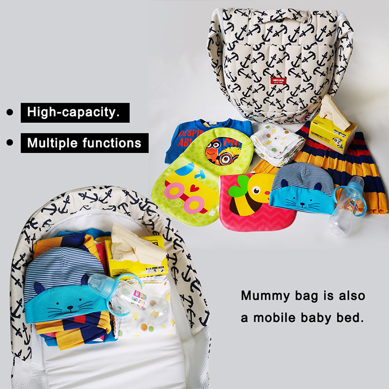 Купить с кэшбэком High quality super lightweight fashion Multifunction Foldable portable Gift mats and pillows Crib Newborn bed 90*40*14cm