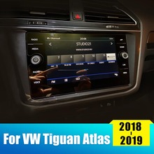 For Volkswagen VW Tiguan Atlas 2018 2019 Tempered Glass Car GPS Navigation Screen Protector Film LCD Touch Protective Sticker цена 2017