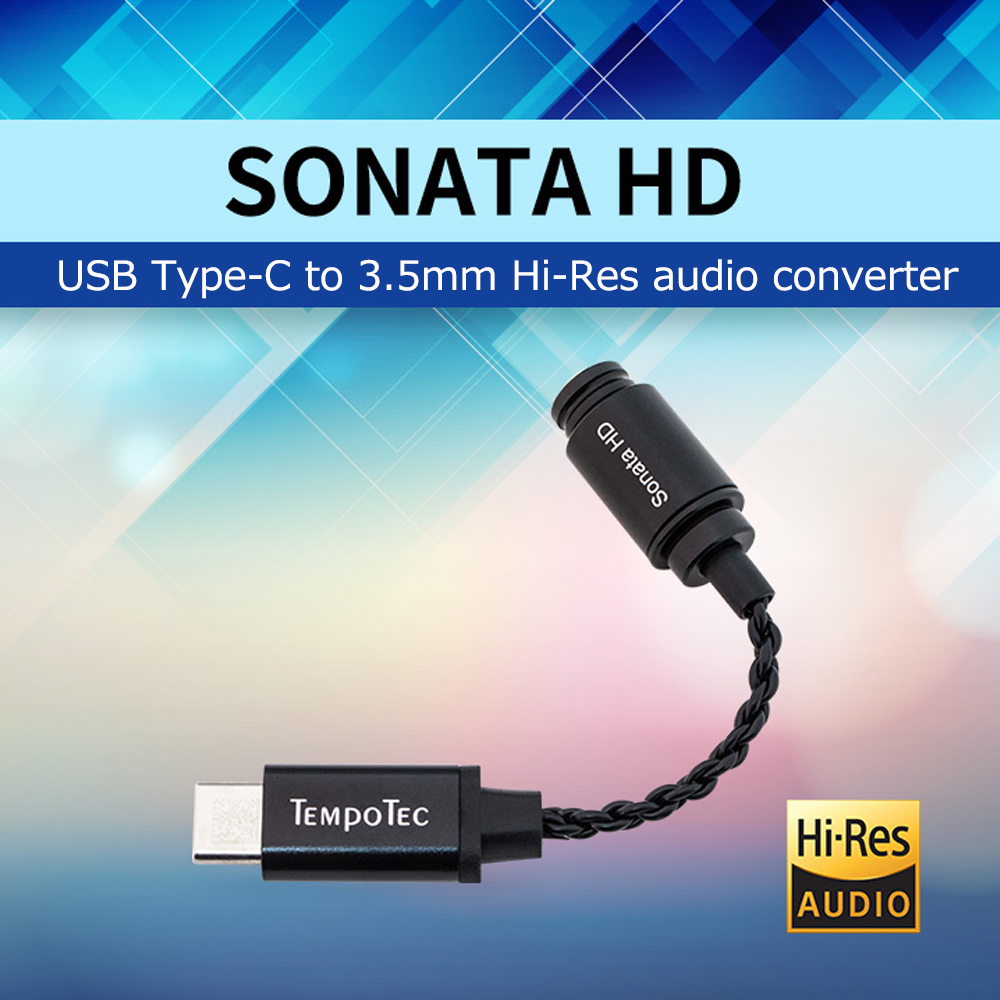 Headphone Amplifier TempoTec Sonata HD Chip CS42L42 USB Type C 3 5mm DAC Amp For Portable Headphones Audio For Android Phone PC