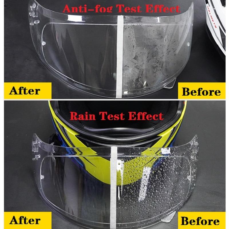 Helmet Clear  Anti-Fog patch film Universal Motorcycle Helmet Lens Fog Resistant Films for K3 K4 AX8 MT Helmets 5